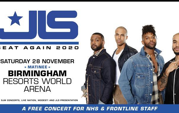 JLS free NHS frontline staff concert
