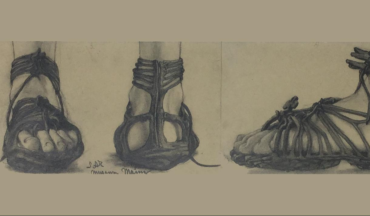 "A drawing by Alma-Tadema - ""study of a sandal""."