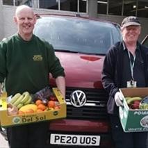 Woods Fruit & Veg delivering fresh produce.