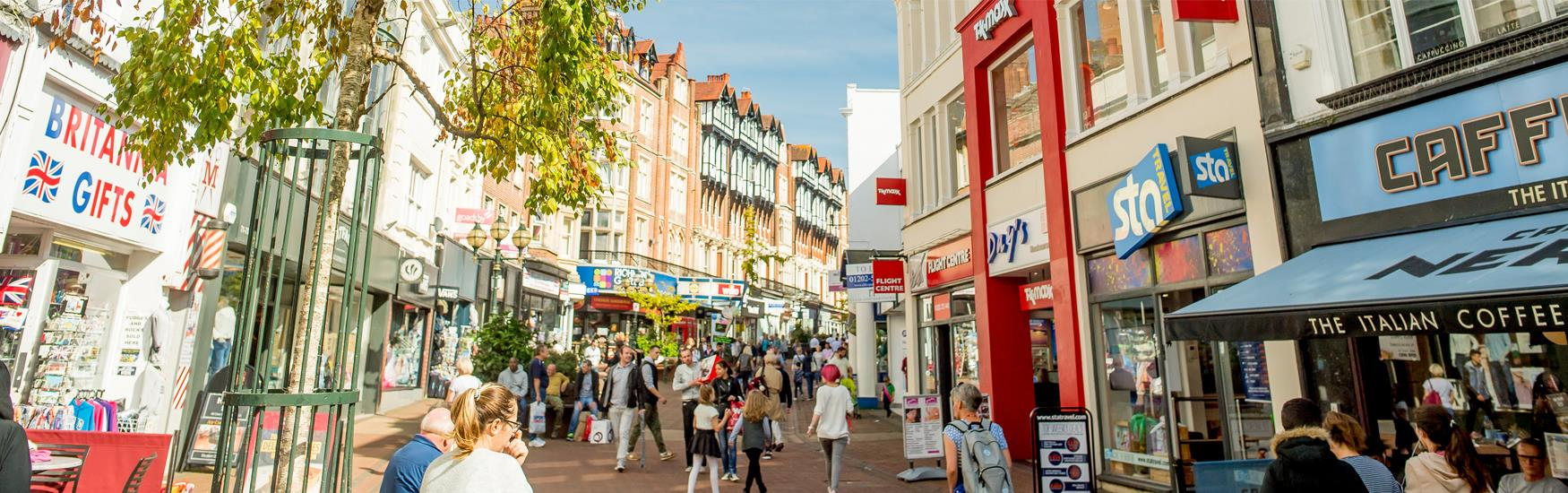 Enjoy great shopping in and around Bournemouth