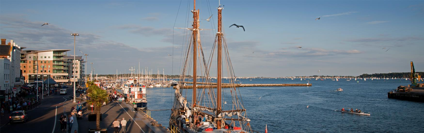 Visit the neighbouring town of Poole © Poole Tourism