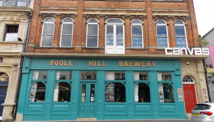 Outside the front of Poole Hill Brewery