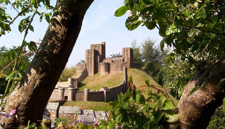 Corfe Castle Model Village, main castle photo.