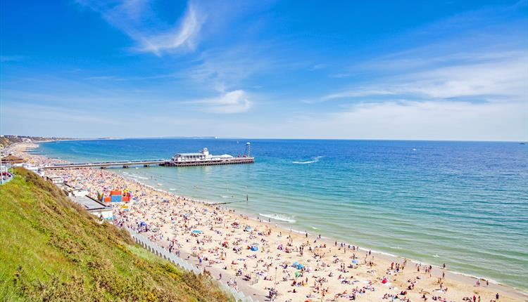 Bournemouth Beach, Bournemouth seafront, coast with the most