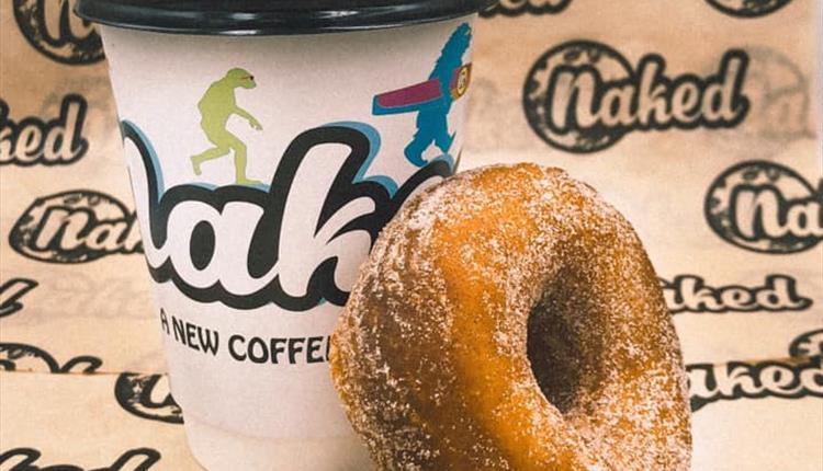 Coffee and doughnut