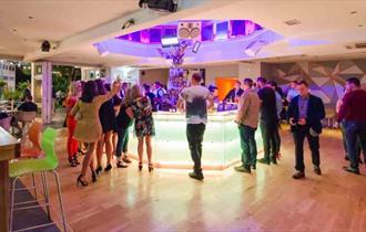The unique centre console cocktail bar inside Bar So