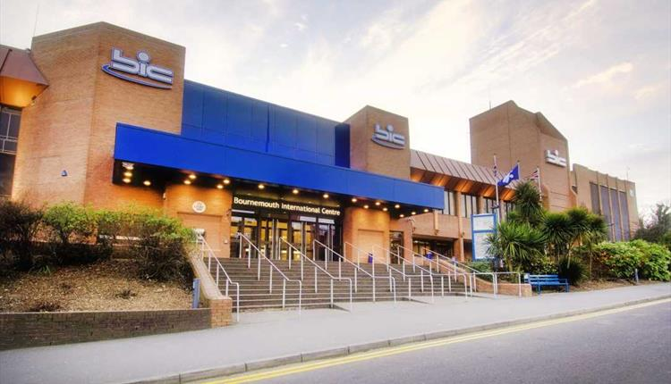 Out the fornt of the Bournemouth International Centre