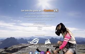 Child playing with VR headset