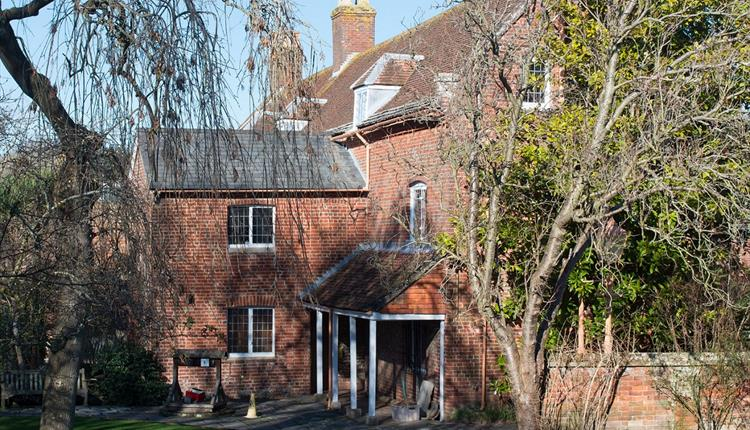 Out the front of Red House Museum located in Christchurch Dorset