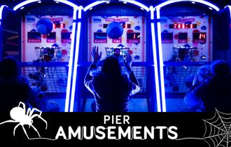 Pier Amusements Halloween illuminated basketball game