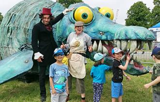 Horace the Pliosaur will be the star attraction at Adventure Wonderland, taking up 'roar'sidence during half term, Mon 17th – Fri 21st February
