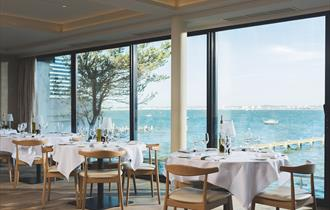 Rick stein main interior with view