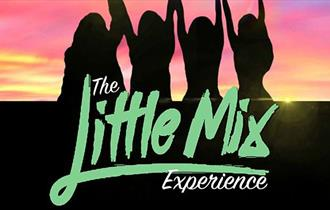 The Little Mix Experience, girl's silhouettes with hands raised against a colourful sunset sky background