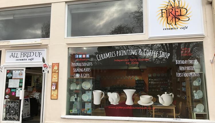 All Fired Up Ceramics Cafe Bournemouth Exterior