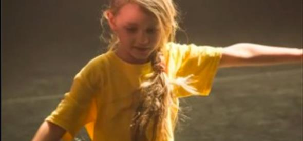 Child enjoying dance class