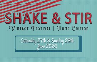 Shake & Stir vintage coloured logo