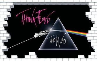 Think Floyd image in the theme of Pink Floyd's The Wall