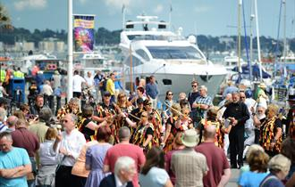 Visitors at Poole quay