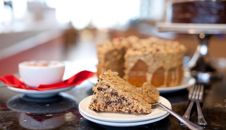 Sandbanks Beach Cafe - cake & coffee