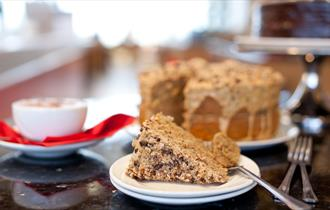 Sandbanks Beach Cafe - cake & coffee