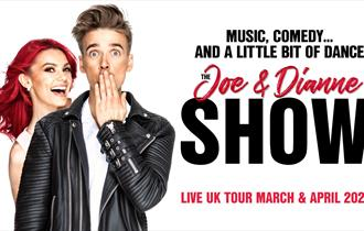 Joe and Dianne posing for their dance show in Bournemouth