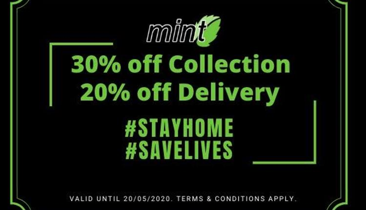 mint discounts available during lockdown.