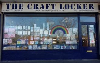 Shop front of the craft locker arts and crafts store.