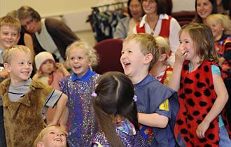 children enjoying storytelling