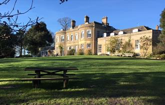 Upton Country Park & House basking in the morning sunrise