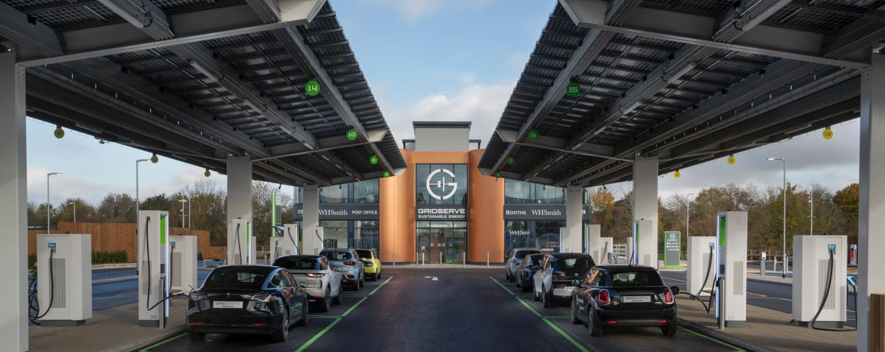 Photograph of Gridserve Electric Forecourt at Great Notley