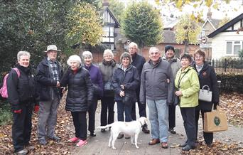 A group photo of people who have taken part in the Dementia Friendly Walk in Braintree.
