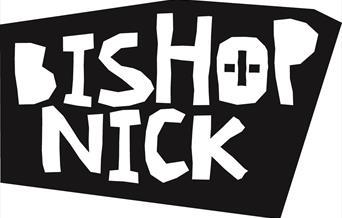 Bishop Nick black and white logo.