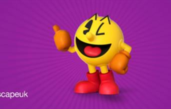 Namco Fun  Scape Logo with PAC Man Image