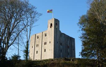 A photo outside of Hedingham Castle.