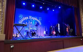 Set up for a live concert