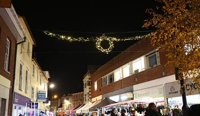 Braintree Christmas Light Switch On lights in the High Street