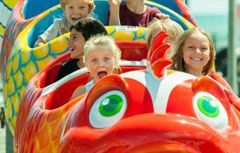 Harbour Park - children enjoying ride