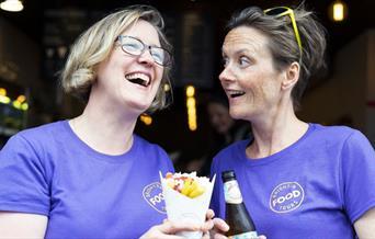 Brighton Food Tours - enjoying some chips