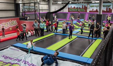 Sky High - children on trampoline