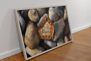 Brighton Rust Framed - Pixel Gallery