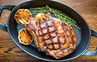 Bone in rib steak