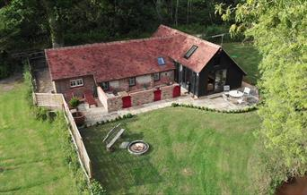 Aerial view of the Piggery