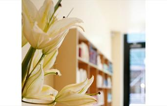 Flowers in reception