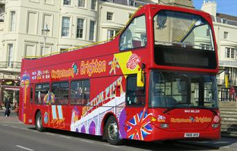 Sightseeing bus by Regency Square