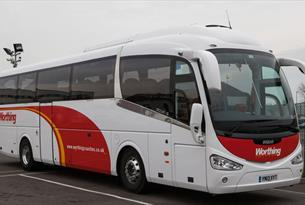 Worthing Coaches - coach at depot
