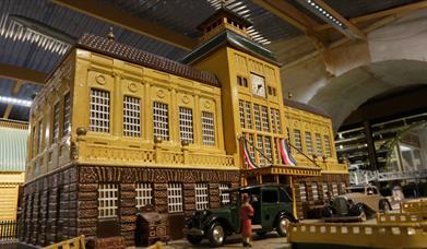 Model station building