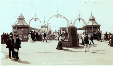 Brighton Palace Pier Tour - historic postcard