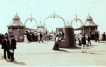 Brighton Palace Pier Tour - historic postcard