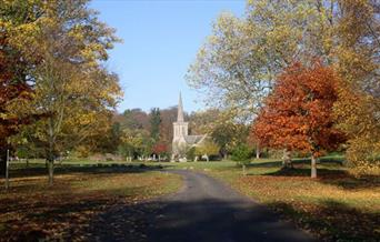 Stanmer church from main drive