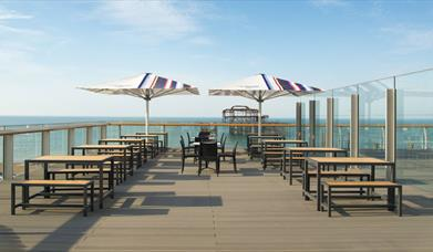 West Pier Tea Room - outdoor sea facing terrace